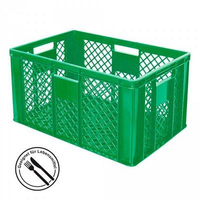 Bäckerkörbe aus Kunststoff, LxBxH 600 x 400 x 320 mm, 63 Liter, grün