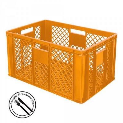 Bäckerkörbe aus Kunststoff, LxBxH 600 x 400 x 320 mm, 63 Liter, orange