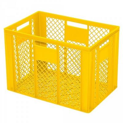 Bäckerkörbe aus Kunststoff, LxBxH 600 x 400 x 240 mm, 83 Liter, gelb