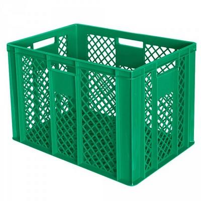Bäckerkörbe aus Kunststoff, LxBxH 600 x 400 x 410 mm, 83 Liter, grün