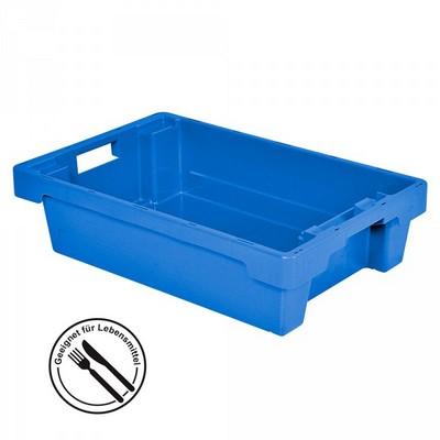 Drehstapelbehälter, geschlossen, 600 x 400 x 150 mm, 25 Liter, blau