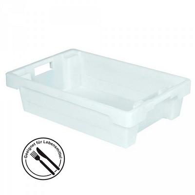 Drehstapelbehälter, geschlossen, 600 x 400 x 150 mm, 25 Liter, weiß