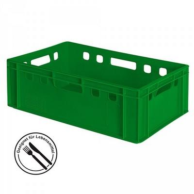 E2 Fleischkasten / Eurobehälter - Polyethylen-Kunststoff (PE-HD) lebensmittelecht, 600 x 400 x 200 mm, grün