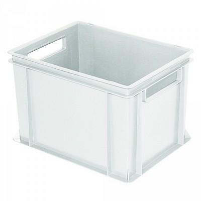 Euro Stapelbehälter, weiß, mit 2 Durchfaßgriffen, 400 x 300 x 270 mm