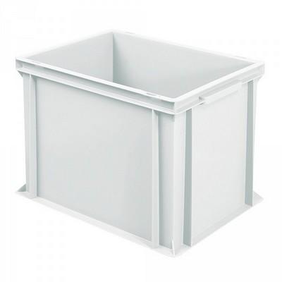 Euro Stapelbehälter, weiß, mit 2 Griffleisten, 400 x 300 x 320 mm