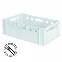 E2-Fleischkasten / Euro Stapelbehälter, weiß, 600 x 400 x 200 mm