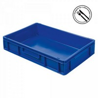 Eurobehälter geschlossen, 600 x 400 x 120 mm, blau