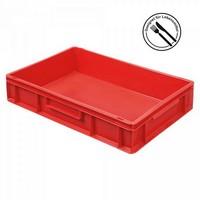 Eurobehälter geschlossen, 600 x 400 x 120 mm, rot