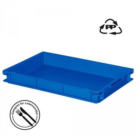 Eurobehälter geschlossen, lebensmitelecht, LxBxH 600 x 400 x 75 mm, 13 Liter, blau