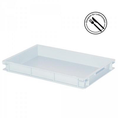 Eurobehälter geschlossen, 600 x 400 x 75 mm, weiß