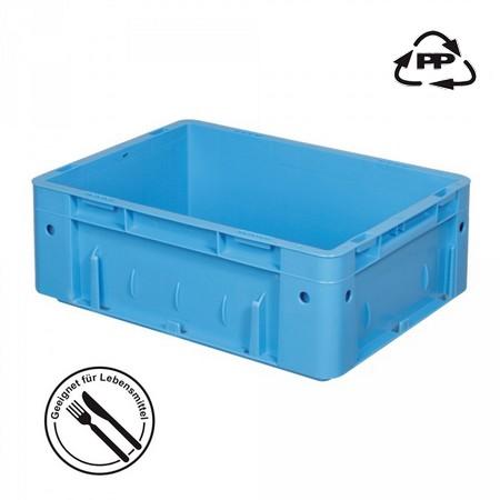 Eurobehälter geschlossen, 400 x 300 x 120 mm, 9 Liter, blau