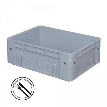 Eurobehälter geschlossen, 400 x 300 x 120 mm, 9 Liter, grau
