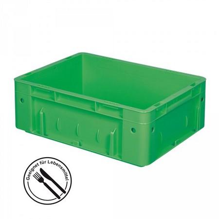 Eurobehälter geschlossen, 400 x 300 x 120 mm, 9 Liter, grün