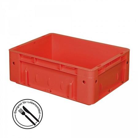 Eurobehälter geschlossen, 400 x 300 x 120 mm, 9 Liter, rot