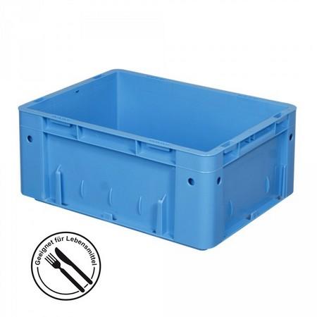 Eurobehälter geschlossen, 400 x 300 x 175 mm, 15 Liter, blau