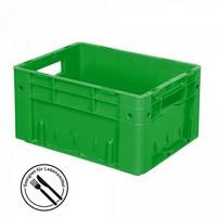 Eurobehälter geschlossen, 400 x 300 x 175 mm, 15 Liter, grün