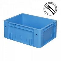 Eurobehälter geschlossen, 400 x 300 x 210 mm, 17 Liter, blau