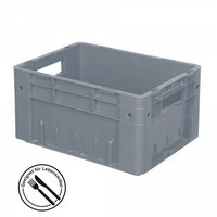 Eurobehälter geschlossen, 400 x 300 x 210 mm, 17 Liter, grau