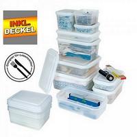 Gefrierbehälter mit Deckel, lebensmittelechter Polypropylen (PP) Kunststoff - Inhalt 1,8 Liter - LxBxH 265 x 162 x 65 mm