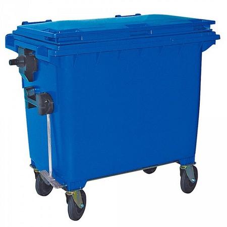 660 Liter Großmülltonne, nach EN 840-6, blau