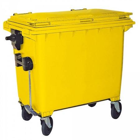 660 Liter Großmülltonne, nach EN 840-6, gelb