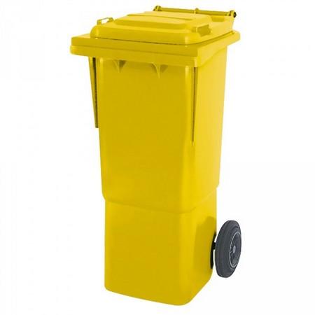 Großmülltonne 60 Liter, fahrbar, gelb