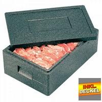 Isobehälter für Tiefkühlwaren, bis -40ºC, LxBxH 390 x 330 x 145 mm, 7 Liter, mit Deckel