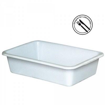 Lebensmittelbehälter aus Kunststoff, weiß, 40 Liter, LxBxH 710 x 490 x 185 mm, konisch, leer ineinander stapelbar