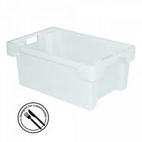 Lebensmittelbehälter, weiß, Polyethylen-Kunststoff (PE-HD), LxBxH 600 x 400 x 250 mm, 40 Liter