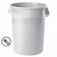 Rundbehälter / Tonne, PE-HD Kunststoff, weiß, lebensmittelecht, 121 Liter