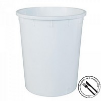 Rundbehälter / Tonne, PE-HD Kunststoff, weiß, lebensmittelecht, 150 Liter