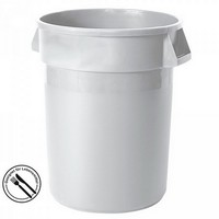 Rundbehälter / Tonne, PE-HD Kunststoff, weiß, lebensmittelecht, 38 Liter