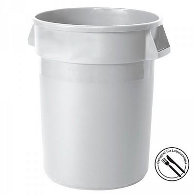 Rundbehälter / Tonne, PE-HD Kunststoff, weiß, lebensmittelecht, 76 Liter