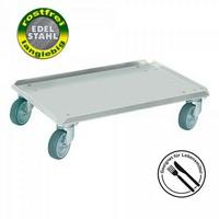 Transportroller für Fleischkästen E1, E2, E3 - 600 x 400 mm, Edelstahl, rostfrei