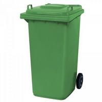 Mülltonne 240 Liter, Kunststoff, mit Rollen, grün