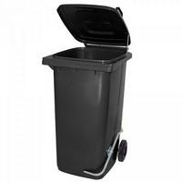 Mülltonne 240 Liter, anthrazit, mit Fußpedal