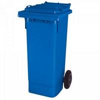 Mülltonne 80 Liter, Kunststoff, mit Rollen, blau