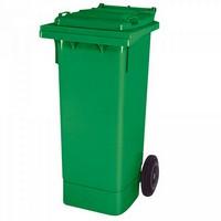 Mülltonne 80 Liter, Kunststoff, mit Rollen, grün