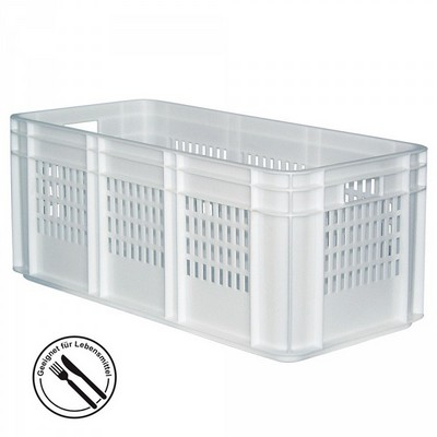 Baguettebehälter, weiß, LxBxH 780 x 380 x330 mm, Wände durchbrochen, Boden geschlossen