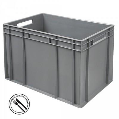Eurobehälter EC64420SC, LxBxH 600 x 400 x 420 mm, 83 Liter, mit 2 Durchfaßgriffen, grau