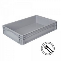 Eurobehälter - Profi - LxBxH 600 x 400 x 120 mm, Inhalt 23 Liter, mit 2 Griffleisten, Farbe grau