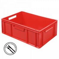 Euronorm-Stapelkästen, EC64220SC, LxBxH 600 x 400 x 220 mm, mit 2 Durchfaßgrifen, Inhalt 43 Liter, Farbe: rot