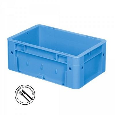 KLT für Rollenbahnen, Rippenboden, LxBxH 300 x 200 x 120 mm, blau