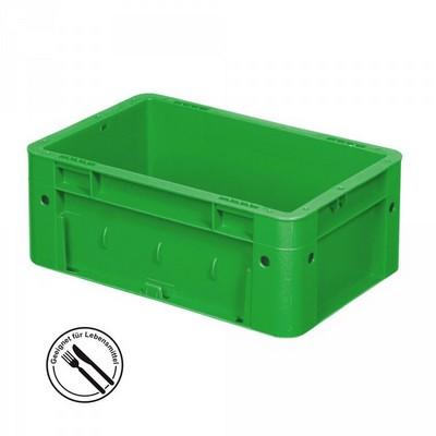 KLT für Rollenbahnen, Rippenboden, LxBxH 300 x 200 x 120 mm, grün