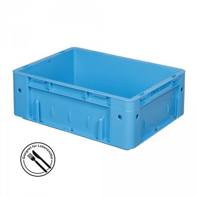 KLT für Rollenbahnen, Rippenboden, LxBxH 400 x 300 x 120 mm, blau