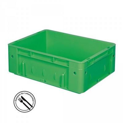 KLT für Rollenbahnen, Rippenboden, LxBxH 400 x 300 x 120 mm, grün