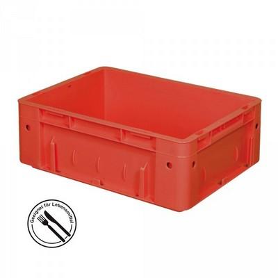 KLT für Rollenbahnen, Rippenboden, LxBxH 400 x 300 x 120 mm, rot