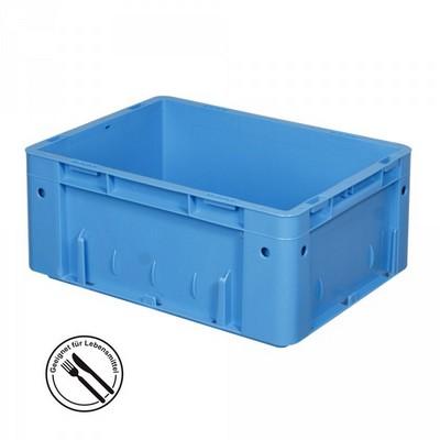 KLT für Rollenbahnen, Rippenboden, LxBxH 400 x 300 x 175 mm, blau