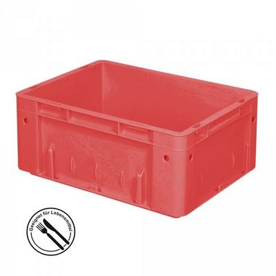 KLT für Rollenbahnen, Rippenboden, LxBxH 400 x 300 x 175 mm, rot
