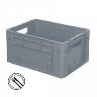 KLT für Rollenbahnen, Rippenboden, LxBxH 400 x 300 x 210 mm, grau